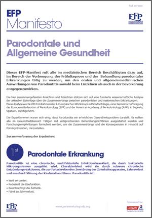 EFP Manifest - Parodontale & Allgemeine Gesundheit