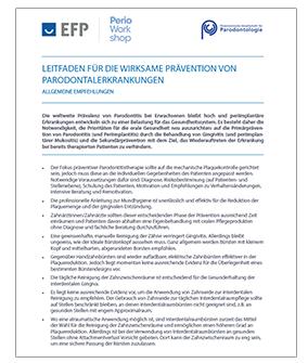 Link zu den EFP Guidlines Parodontologie (DE)